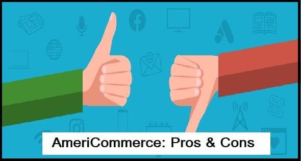 AmeriCommerce: Pros & Cons