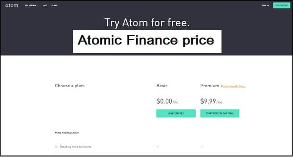 Atomic Finance price
