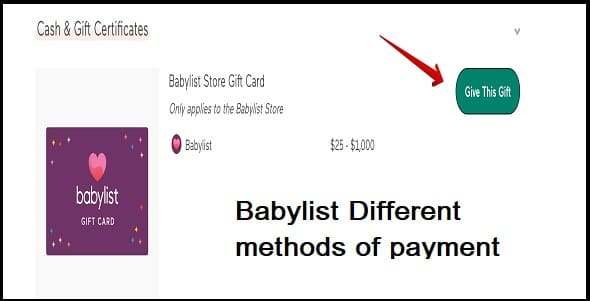 Different methods of payment