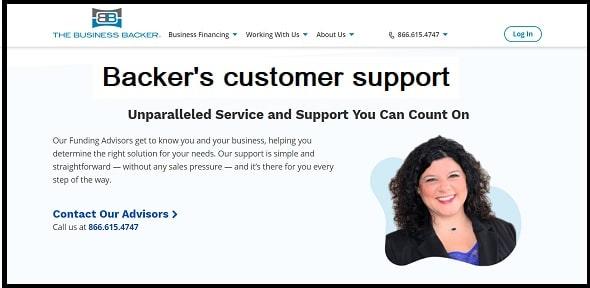 Backer's customer support