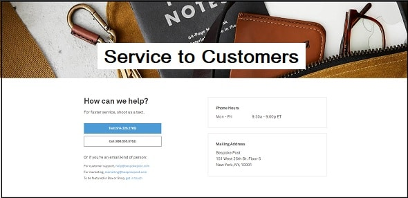Service to Customers