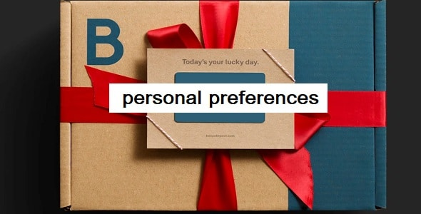 Do they personalize the box based on your preferences