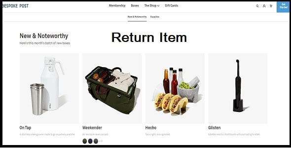 Is it possible to return an item or a box