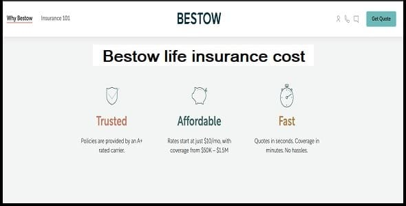 How much does Bestow life insurance cost?
