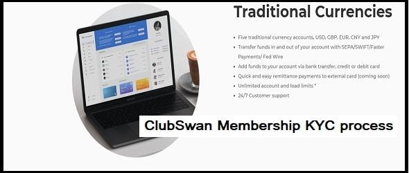 ClubSwan Membership: KYC process-