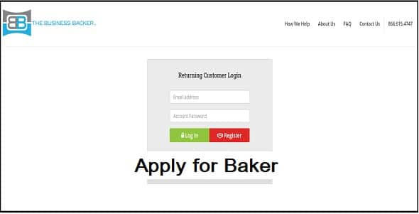 What do you need to apply for baker lending