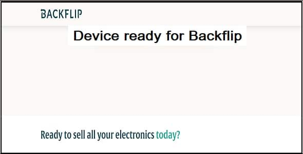 What should I do to get my device ready for Backflip