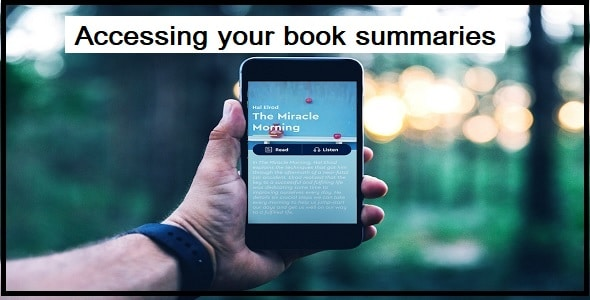 Accessing your book summaries