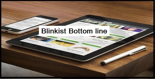 Blinkist Bottom line