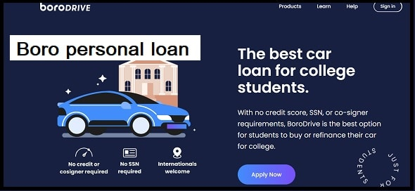 What types of personal loans does Boro offer