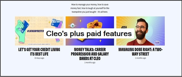 Cleo's plus paid features