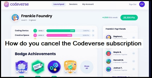How do you cancel the Codeverse subscription