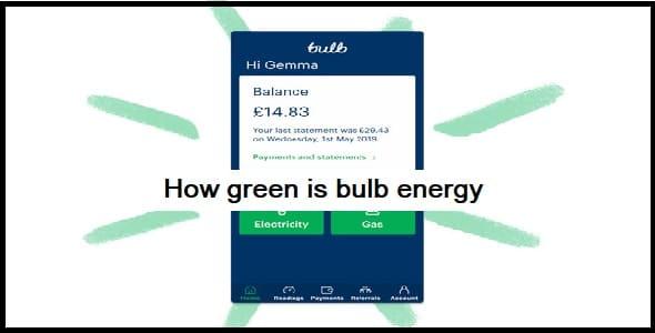 How green is bulb energy