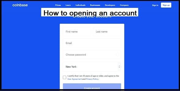 How to opening an account