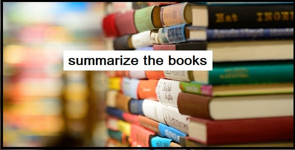 What method is used to summarize the books
