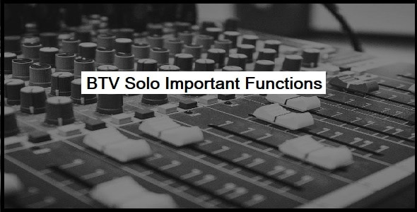 Important Functions