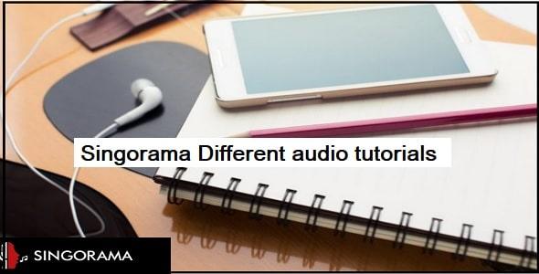Different audio tutorials
